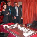 Con John Phillippe Law e Ilaria Paci alla festa dei 40 anni di Diabolik