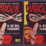 Confronto fra le copertine dell'edizione 1964 con pubblicità nelle versioni con cop chiara e scura