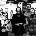 Un giovane Mario Gomboli con le sorelle Giussani