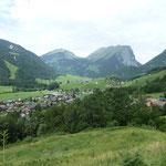 im Hintergrund die Kanisfluh, Wandern, Bregenzerwald, Schoppernau, Appartements Stelzhammer