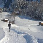 Winterspaziergang, Vorarlberg, Bregenzerwald, Schoppernau, Wintersport, Appartements Stelzhammer