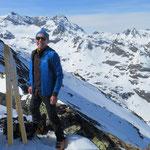 Wilfried auf Skitour, Wintersport Bregenzerwald, Appartements Stelzhammer, Schoppernau