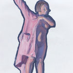 ALIX  2- huile sur papier - 41 x 27 cm