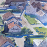 Ortenberg - Aquarelle 33 x 55 cm