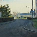 Rue d'anjou   - 55 x 35 cm aquarelle sur papier