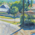 Paysage - Bourgogne - Aquarelle - 38,5 x 54 cm