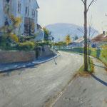 Baden-Baden - Contre jour - Aquarelle - 39 x 55 cm