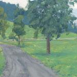 Rettenberg - Huile sur carton 41 x 27 cm