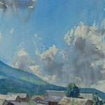 Un ciel - Alpes - Juillet - Aquarelle sur papier