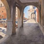 Chioggia - Aquarelle sur papier 55 x 34 cm