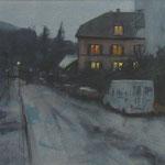 Baden-Baden - Nuit - Aquarelle - 53 x 31 cm