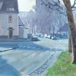 Rue de Touraine - Huile sur carton - 41 x 27 cm