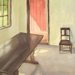 Interieur Danois - huile sur toile - 40 x 30 cm