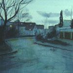 Fin de jour - Baden-Baden - Aquarelle - 53 x 33 cm