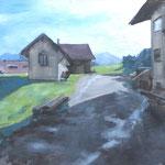 Rettenberg - huile sur panneau 41 x 27 cm