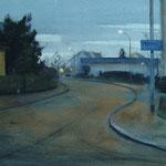 Rue d'anjou  - Fin de jour - 55 x 35 cm aquarelle sur papier