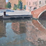 Chioggia - Huile sur papier - 41 x 27 cm