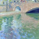 Strasbourg - Pont St Nicolas - Hsp  - 47 x 37 cm