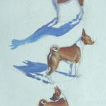 Etude de chien - Huile sur panneau