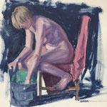 Mélanie - Huile sur carton - 29 x 40 cm