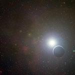 Hauptreihenstern mit einem Planeten im Vordergrund