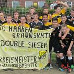 B-Jugend Hallenkreismeister und Kreismeister 2013/2014