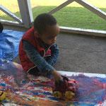 Making car tracks