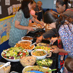 Some of the delicious food donated by parents and staff