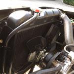 Ford Mustang, Kühler ersetzen und 6 Blatt Lüfterflügel mit Viscokupplung montiert. Oltdimter Garage D. Bauhofer, Teufenthal