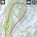 Tracking der Joggingrunde am Sasenberg (3km)