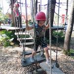 Unterwegs im Klettermax im Kinderland