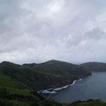 Uitzicht Baia de Santa Iria (noordkant eiland, nabij Ribeira Grande)