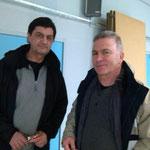 Daniel (à droite)qui encadre la marche nordique le samedi et Jean Michel le mardi (en formation)