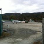 建設予定地の高校の校庭