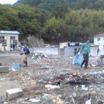 港清掃・・・・画像悪いですが。