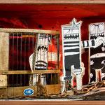 """SOFÍA O EL PENDOLAJE /// Diorama realizado para la exposición e Espirelius """"Un cuento desde dentro"""" en la Sala Oberta de la Universidad de Valencia."""