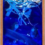 """MUJER AL AGUA!. Técnica mixta, 50 x 17 x 13 cm, 2008. Realizada para la exposición de Espirelius """"Un ciento desde dentro"""" en la Sala Oberta de la Universidad de Valencia."""