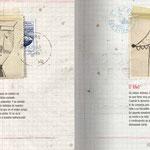 Personajes de La ladrona de sellos, de Txabi Arnal y Julio Antonio Blasco, Sr. López. Edelvives.