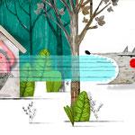 LOS TRES CERDITOS /// Ilustraciones de Julio Antonio Blasco, Sr. López. 21 x 21 cm. 32 pp.  Proyecto libre para cesión de derechos