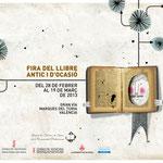 36 FIRA DEL LLIBRE ANTIC /// Realización de la imagen de la 36ª Feria del Libro Antiguo y de Ocasión de Valencia, 2013. Cartel horizontal para valla publicitaria.