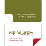 ESPIRELIUS. Diseño gráfico: Julio Antonio Blasco, Sr. López. Rediseño de marca y diseño de aplicaciones. Dirección de arte: Espirelius, 2009