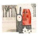 El mago, 2013. 20,5 x 23 cm. Técnica mixta sobre papel.