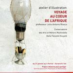 VOYAGE AU COEUR DE L'AFRIQUE. Diseño gráfico Julio Antonio Blasco. Cliente: Arts Cultura y desarrollo, 2011. Diseño cartel y flyer electrónico.