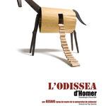 L'ODISSEA. Proyecto: Espirelius. Diseño gráfico: Julio Antonio Blasco. Assaig Teatre, 2010. Cartel seleccionado en los 15º Premios Anuaria, 2010. Diseño de cartel, programa de mano y elementos escenográficos.