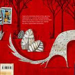 Contra portada de La ladrona de sellos, de Txabi Arnal y Julio Antonio Blasco, Sr. López. Edelvives.