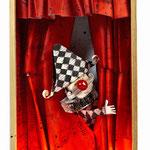 PURO TEATRO. Técnica mixta, 43 x 23 x 12,5 cm, 2010. Colección privada.