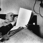 Jean Genet. Photo Pierre Bourgeade. Voir Politique