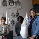 Catherine Millet, Lisa, Jacques Martinez. Atelier de J. Martinez. Photo JH