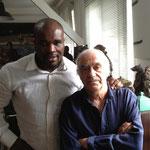 Le champion du monde de boxe Jean-Marc Mormeck et Jacques Henric 2013