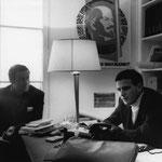 Jacques Henric, Philippe Sollers bureau de Tel Quel.  1969